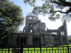 世界遺産の原爆ドーム