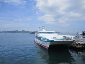 瀬戸内海汽船の高速船「スーパージェット」