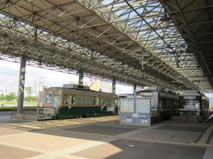 広島港宇品旅客ターミナル前の路面電車