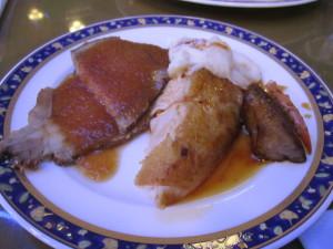 レストラン「ニューヨーク」での夕食