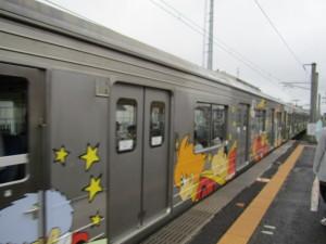 仙石線のラッピング電車