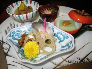 旅館「飛騨亭 花扇」さんの夕食