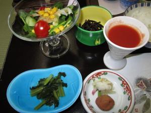 旅館「飛騨亭 花扇」さんの朝食