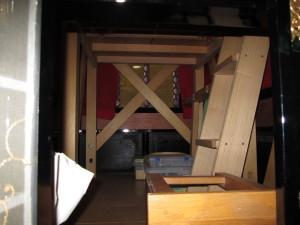 屋台の内部