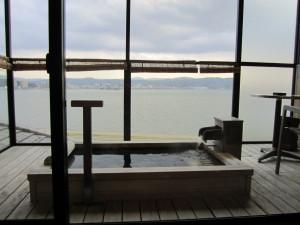 旅館「なにわ一水」さんの客室露天風呂
