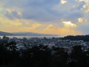 松江城天守閣から望む宍道湖