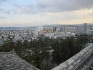 松江城天守閣から望む市街