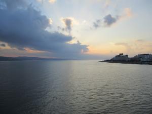 宍道湖大橋から望む宍道湖