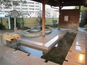 松江しんじ湖温泉駅にある足湯