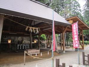 泣き相撲の土俵