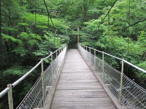 釜淵の滝:紅葉橋