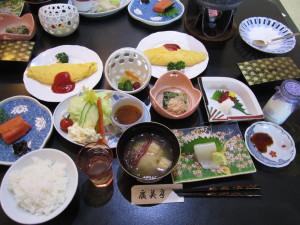 花巻温泉「割烹旅館 廣美亭」さんの朝食