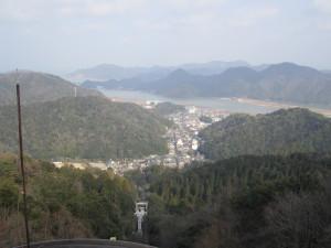 城崎温泉ロープウェイ 大師山頂駅展望台からの眺め