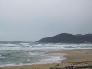 冬の夕日ヶ浦海岸