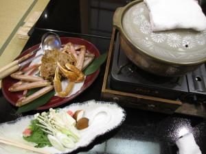 皆生温泉:旅館「海色・湯の宿 松月」さんの夕食