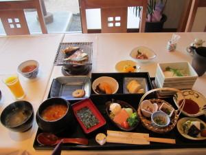 皆生温泉:旅館「海色・湯の宿 松月」さんの朝食