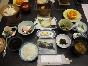 鳥取温泉:旅館「観水庭こぜにや」さんの朝食