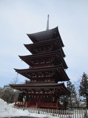 最勝院の五重塔