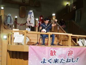 旅館:「南部屋・海扇閣」さんでの津軽三味線の生演奏
