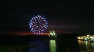 白浜海岸の花火