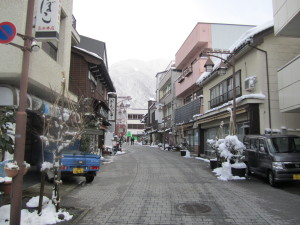 宇奈月温泉の商店街